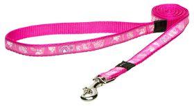 Rogz - Fancy Dress 16mm Fixed Dog Lead - Pink Paw