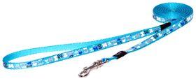 Rogz - Lapz Trendy Blue Bones Fixed Long Dog Lead - Extra Small