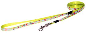 Rogz - Lapz Trendy Multi Bones Fixed Long Dog Lead - Extra Small
