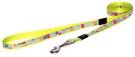 Rogz - 13mm Fixed Long Dog Lead - Multi Bones