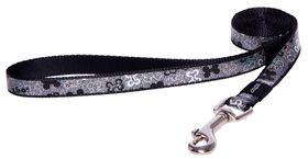 Rogz - 16mm Fixed Long Dog Lead - Black Bones