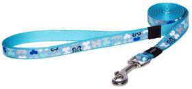 Rogz - 16mm Fixed Long Dog Lead - Blue Bones