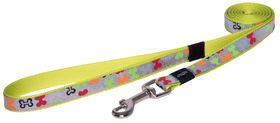 Rogz - 16mm Fixed Long Dog Lead - Multi Bones