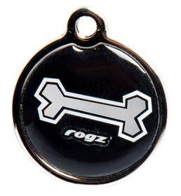 Rogz - ID Tagz 31mm Metal Tag - Black Bone