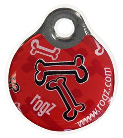Rogz - ID Tagz 27mm Instant Resin Tag - Red