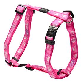 Rogz - Fancy Dress Pink Paws Dog H-Harness - Extra Large