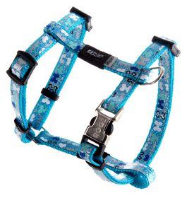 Rogz - 8mm Adjustable Dog H-Harness - Blue Bones