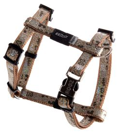 Rogz - 8mm Adjustable Dog H-Harness - Brown Bone