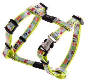 Rogz - Lapz Trendy Multi Bones Dog H-Harness - Extra Small
