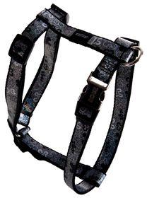 Rogz - 16mm Adjustable Dog H-Harness - Black Bone