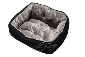 Rogz - Dog Bed 560mm x 430mm x 290mm - Black Paw