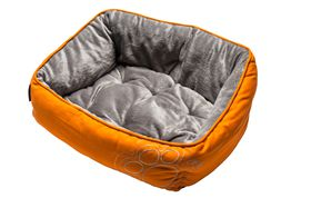 Rogz - Dog Bed 560mm x 430mm x 290mm - Orange Paw