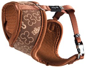 Rogz - Lapz Trendy Brown Bones Wrapz Harness - Extra Small