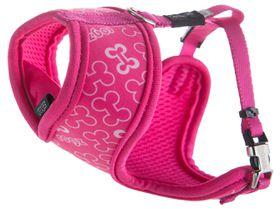 Rogz - Lapz Trendy Pink Bones Wrapz Harness - Extra Small