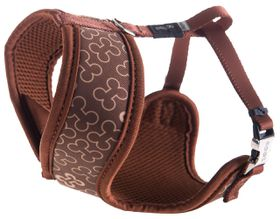 Rogz - Lapz Trendy Brown Bones Wrapz Harness - Small