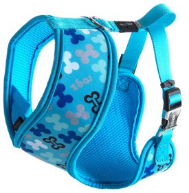 Rogz - Extra 16mm Wrapz Harness - Blue Bones