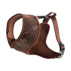 Rogz - Lapz Extra Trendy Brown Bones Wrapz Harness - Medium