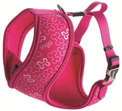 Rogz - Extra 16mm Wrapz Harness - Pink Bones