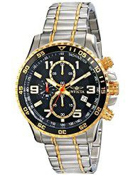 Invicta Men's 14876 Specialty Chronograph 18k Gold Ion-Plated and Stainless Steel Watch (parallel import)