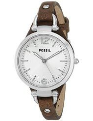 Fossil Women's ES3060 Georgia Three Hand Tan Leather Strap Watch (parallel import)