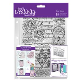 Docrafts Creativity Essentials Clear Background Stamp - Musicality
