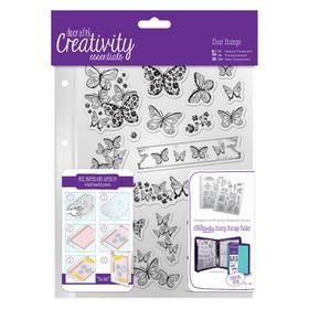 Docrafts Creativity Essentials A5 Clear Stamp Set - Butterflies