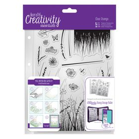 Docrafts Creativity Essentials A5 Clear Stamp Set - Meadow