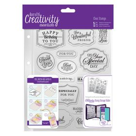 Docrafts Creativity Essentials A5 Clear Stamp Set - Trad Sentiment