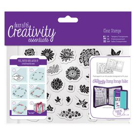 Docrafts Creativity Essentials A6 Clear Stamp Set - Trad Floral