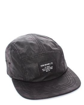 Iconic Brand  Mens Brand Matrix hat in Black