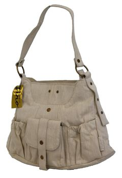 Fino Linen Single Shoulder Bag (Sk-745) - Beige