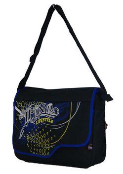 Fino Unisex Griffiti Messenger Bag (X2944) - Blue