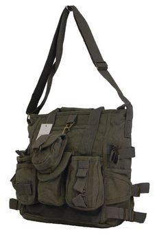 Fino Canvas Messenger Shoulder Bag (SK-JH754/WCVS) - Green