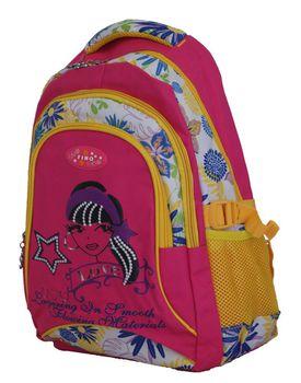 "Fino 16"" Colourfull Girls School Bag #641 - Pink"