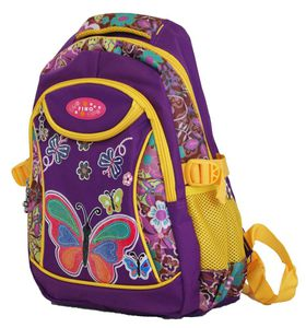 "Fino 16"" Colourfull Girls School Bag #529 - Purple"