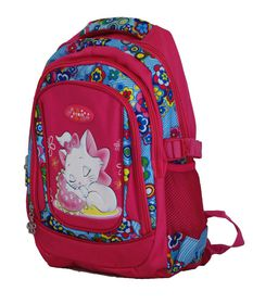 Fino 16'' Colourfull Girls School Bag #530 - Pink