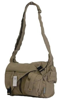 Fino Canvas Messenger Shoulder Bag (SK-JH780/WCVS) - Khaki