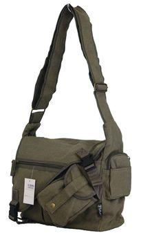 Fino Canvas Messenger Shoulder Bag (SK-JH780/WCVS) - Green