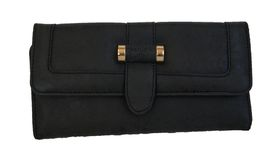 Fino Leather PU Purse (811-907) - Black