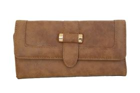 Fino Leather PU Purse (811-907) - Brown