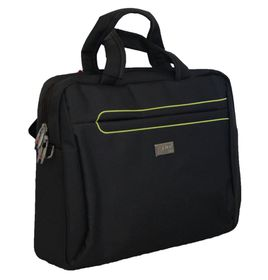 "Fino 15"" Polyester Laptop & Document Bag (SK9023) - Green & Green Pipping"