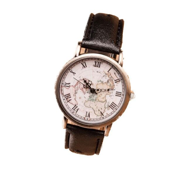 Classic world map unisex watch black buy online in south classic world map unisex watch black gumiabroncs Choice Image