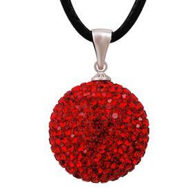 Shiroko Harmony Pendant W. Crystals HBP17 - Red