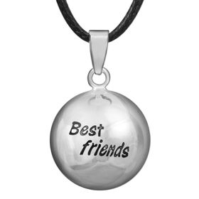 Shiroko Silver Plated Harmony Ball Pendant Best Friend - HBP65