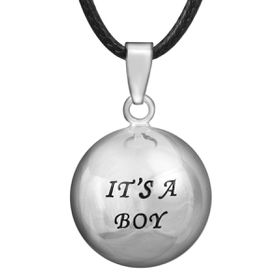 Shiroko Silver Plated Harmony Ball Pendant Its a Boy - HBP66