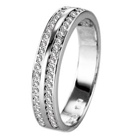 Shiroko Sterling Silver Two Rows Divided Ring