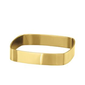 Shiroko Stainless Steel Square Gold Bangle