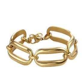 Shiroko Stainless Steel Gold Links Bracelet