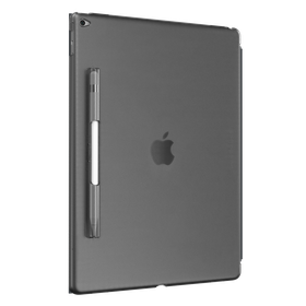 """SwitchEasy CoverBuddy Hard Back Cover with Pencil Holder for the iPad Pro 12.9"""" - Translucent Black"""