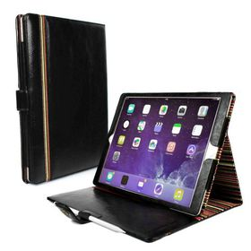 "Tuff-Luv Alston Craig Vintage Genuine Leather Slim-Stand Case Cover for Apple iPad Pro 12.9"" - Black"